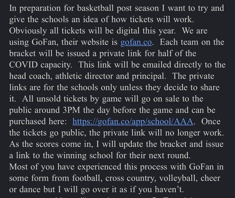 Regional Tournament Ticket Info
